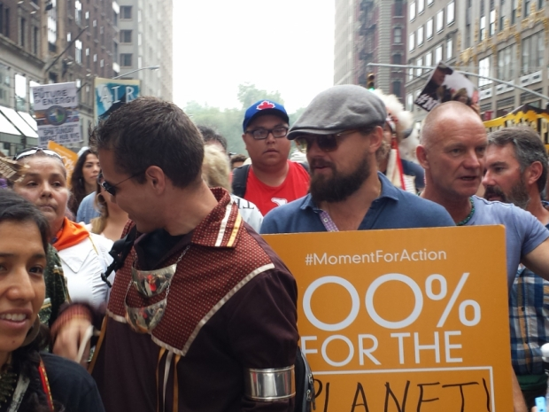 Leonardo DiCaprio at climate rally