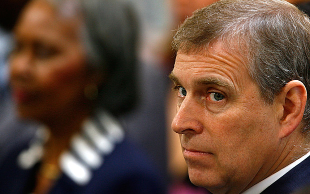 Prince Andrew Attends Fresh & Easy Store Opening In LA
